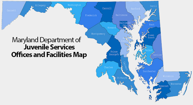 map of maryland juvenile services facilities